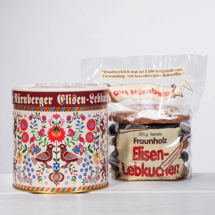 Gingerbread World Fraunholz Nuremberg Lebkuchen Stickmuster Tin