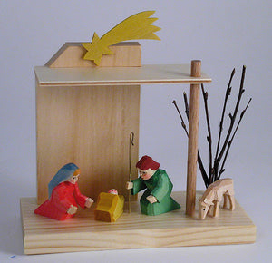 Bettina Franke Handcarved Nativity Scene or Creche. Imported from Germany by Gingerbread World