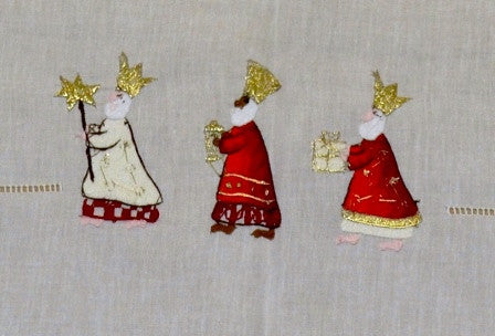 Gingerbread World Christmas Table Linens by Volkmar Stoeber Germany. Christmas napkins, table cloths and table runners