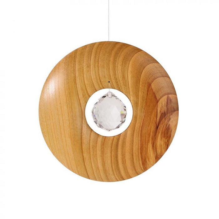 Waldfabrik Wooden Hanging Ornament - Circle with Swarovski Crystal