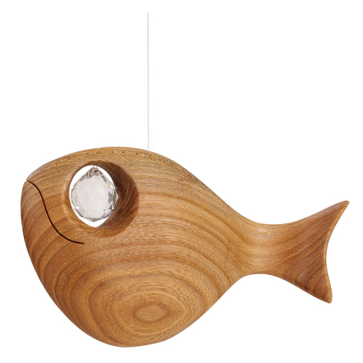 Waldfabrik Wooden Hanging Ornament - Fish with Swarovski Crystal