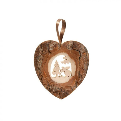 Waldfabrik Door Ornament - Heart with Moose