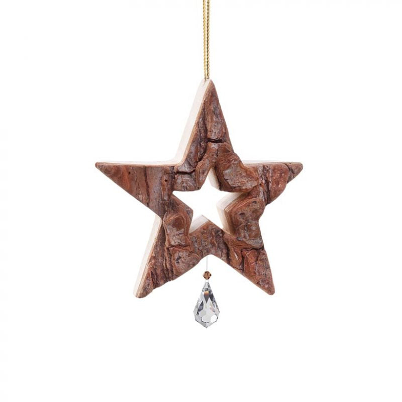 Waldfabrik Hanging Ornament - Star with Crystal