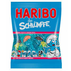 Haribo Gummy Candy - Smurfs or Schlümpfe. Makes children happy! Top Ten Haribo flavors