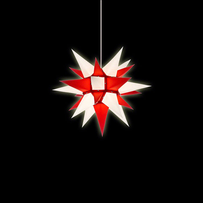 Gingerbread World Herrnhuter Stars Canada - 40 cm Paper Star Red White - Lit