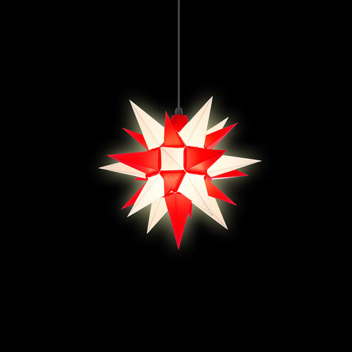 Gingerbread World Herrnhuter Stars Canada - 40 cm Plastic Star White Red - Lit