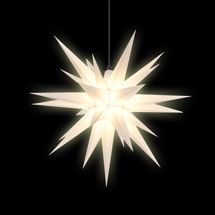 Gingerbread World Herrnhuter Stars Canada - 70 cm Plastic Star White - Lit
