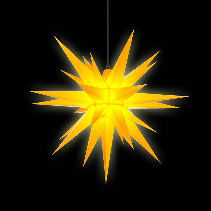 Gingerbread World Herrnhuter Stars Canada - 70 cm Plastic Star Yellow - Lit