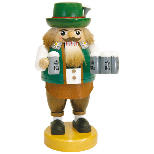 Gingerbread World Richard Glaesser German Nutcracker - Bavarian Octoberfest with Biersteins RG52670