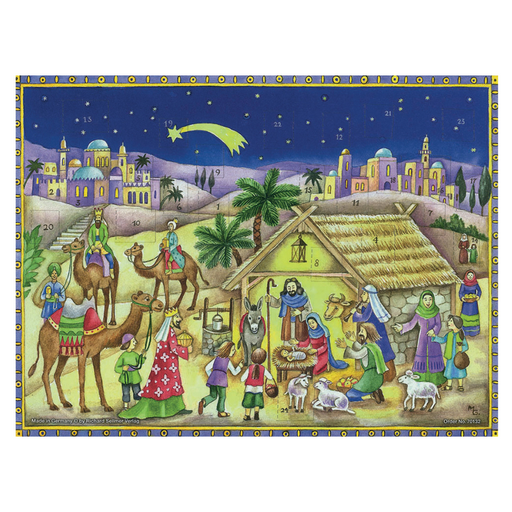 Gingerbread World Richard Sellmer Advent Calendar RS132 - Christmas Nativity