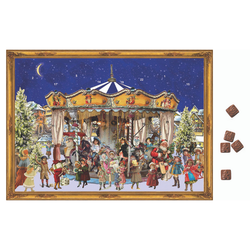 Gingerbread World Richard Sellmer Advent Calendar RS780 - Christmas Carousel