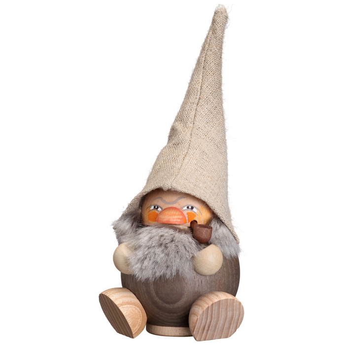 Gingerbread World Seiffener Volkskunst Christmas Smoker Figure - Forest Dwarf Dark SV19034