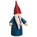 Gingerbread World Seiffener Volkskunst Christmas Smoker Figure - Gnome Blue with Red Hat SV12301