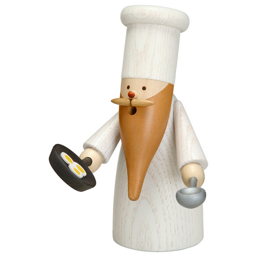 Gingerbread World Seiffener Volkskunst Christmas Smoker Figure - Gnome Chef SV12318
