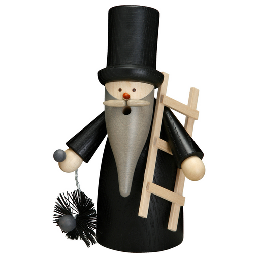 Gingerbread World Seiffener Volkskunst Christmas Smoker Figure - Gnome Chimney Sweep SV12317