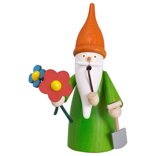 Gingerbread World Seiffener Volkskunst Christmas Smoker Figure - Gnome Gardner SV12314