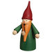 Gingerbread World Seiffener Volkskunst Christmas Smoker Figure - Gnome Green with Red Hat SV12304