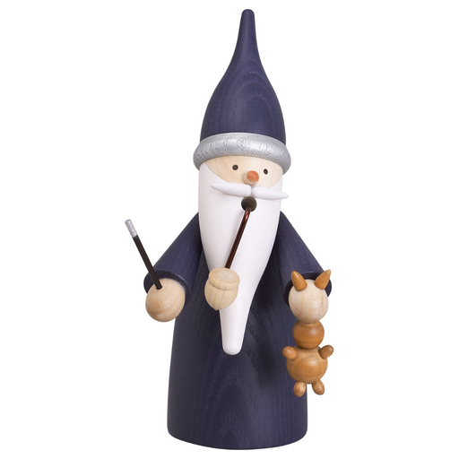 Gingerbread World Seiffener Volkskunst Christmas Smoker Figure - Gnome Magician SV12312