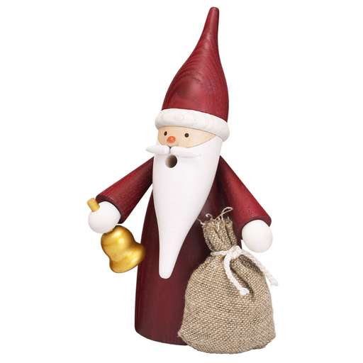 Gingerbread World Seiffener Volkskunst Christmas Smoker Figure - Gnome Santa SV12315