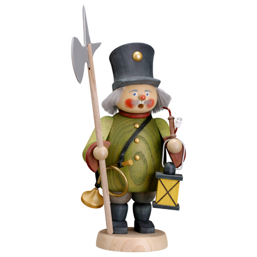 Gingerbread World Seiffener Volkskunst Christmas Smoker Figure - Night Watchman SV12652