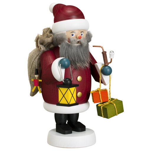Gingerbread World Seiffener Volkskunst Christmas Smoker Figure - Santa Claus SV12659