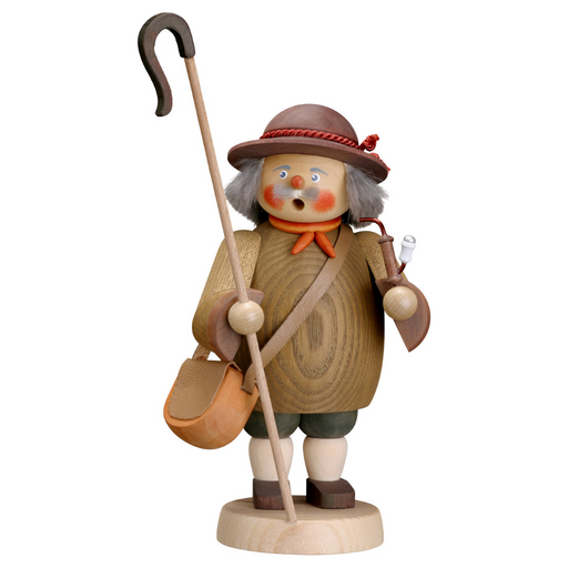 Gingerbread World Seiffener Volkskunst Christmas Smoker Figure - Shepherd SV12656