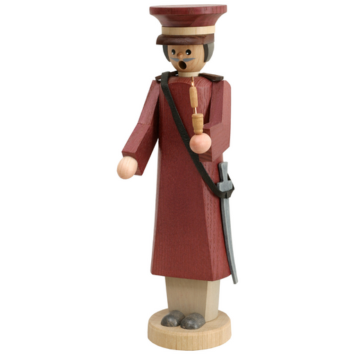 Gingerbread World Seiffener Volkskunst Christmas Smoker Figure - Tall Captain Small SV12755