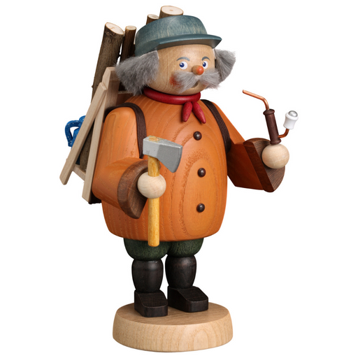 Gingerbread World Seiffener Volkskunst Christmas Smoker Figure - Wood Chopper SV12661