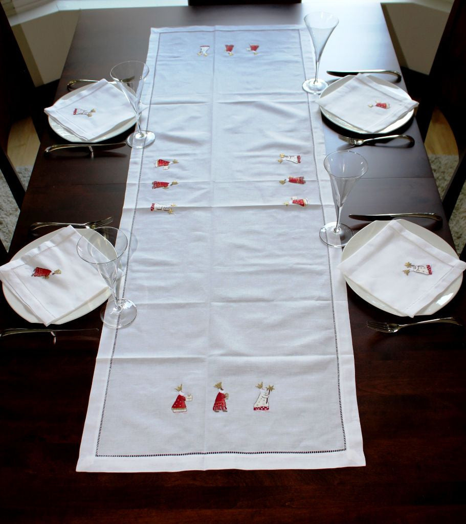 embroidery products white our tablecloth table turquoise linens boutique with all image en ricardo