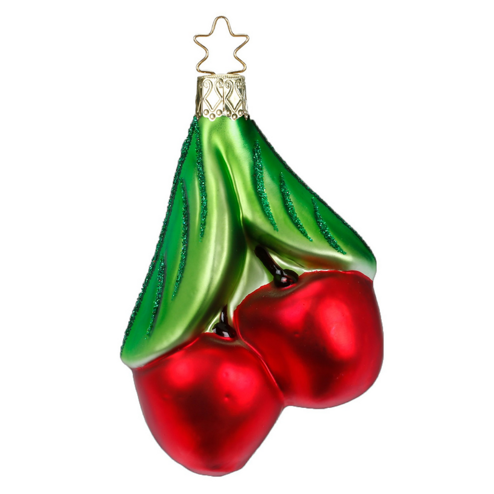Inge-Glas Canada - Glass Christmas Ornaments - Cherries Ornament