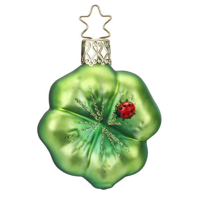 Inge-Glas Canada - Glass Christmas Ornaments - Clover Luck Four Leaf Clover Ornament