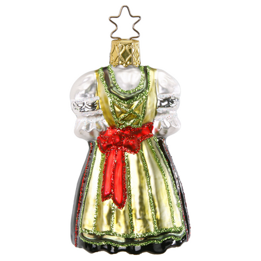 Inge-Glas Canada - Glass Christmas Ornaments - German Dirndl Ornament