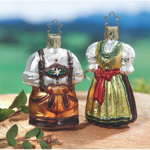 Inge-Glas Canada - Glass Christmas Ornaments - German Lederhosen Ornament