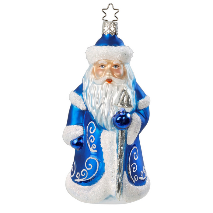 Inge-Glas Canada - Glass Christmas Ornaments - Regal Santa Frost
