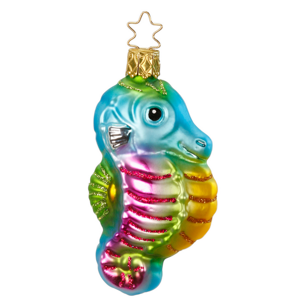 Inge-Glas Canada - Glass Christmas Ornaments - Sea Dancer Seahorse Ornament