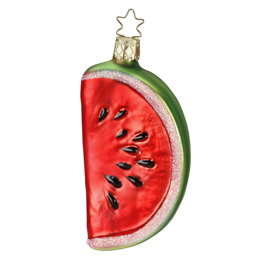 Inge-Glas Canada - Glass Christmas Ornaments - Slice of Summer Watermelon
