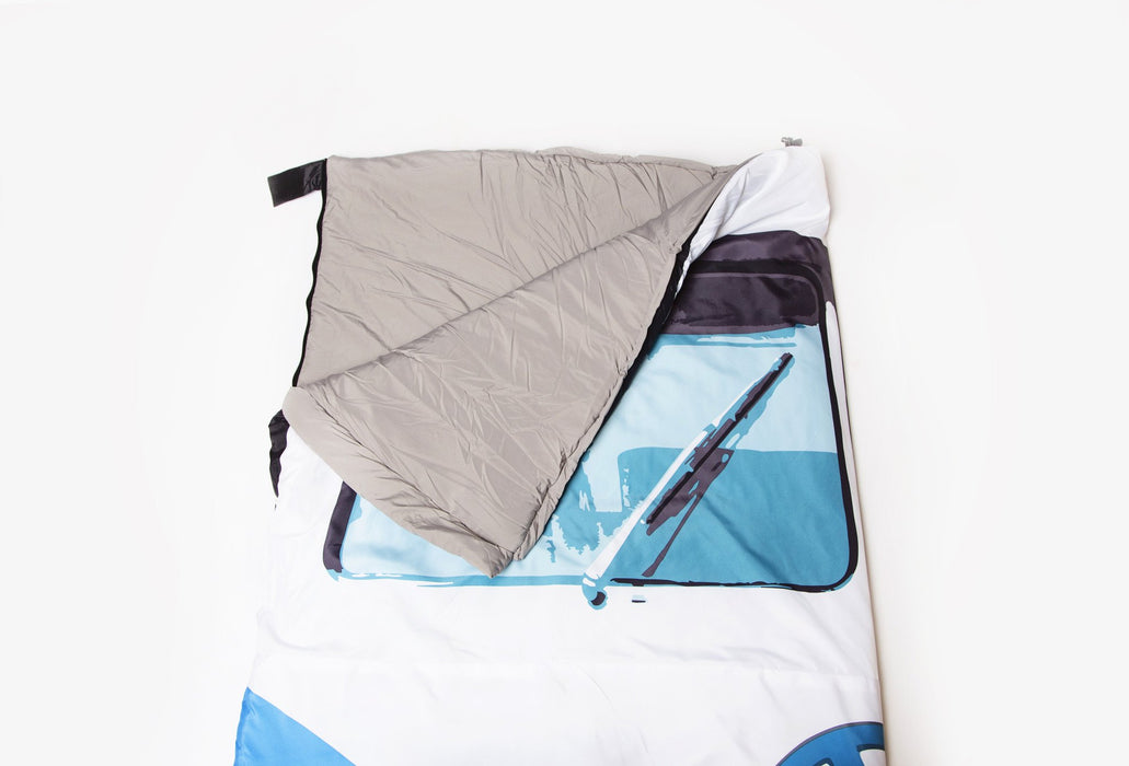 Licensed Volkswagen Products – Sleeping Bag made to look like the front of a classic 1965 Volkswagen Campervan
