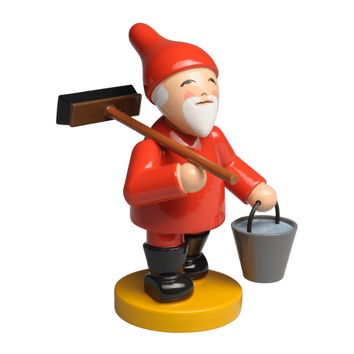 Wendt & Kühn Blumenkinder and Friends - Gnome with Broom and Bucket