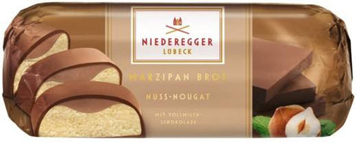 Gingerbread World Niederegger Filled Marzipan Loaf with Nut Nougat, 75 grams
