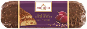 "Gingerbread World Niederegger Chocolate Crispy Loaf ""Rum and Raisin"", 125 grams"