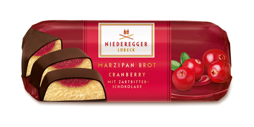 Gingerbread World Niederegger Filled Marzipan Loaf with Cranberry, 75 grams