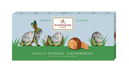 Niederegger Marzipan Easter Eggs filled with Marzipan and Nut Brittle