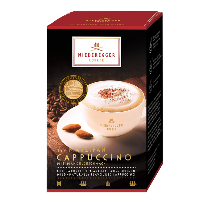 Gingerbread World Niederegger Marzipan Capuccino, 10 packets