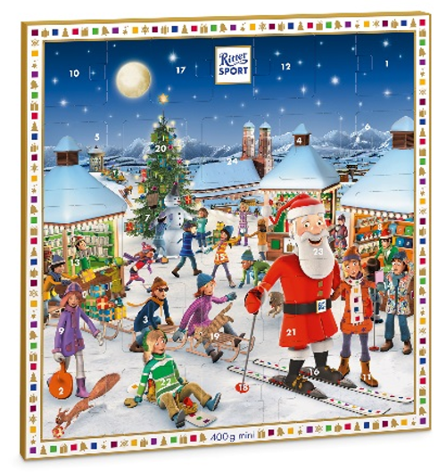 Gingerbread World Lebkuchen Schmidt Canada - Ritter Sport Advent Calendar with Ritter Chocolate Minis