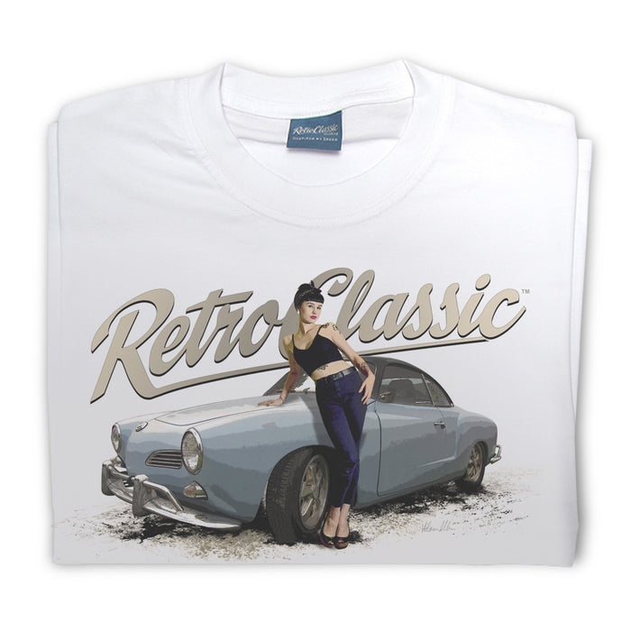 Gingerbread World European Living - RetroClassic Clothing Vintage VW T-Shirt - Men's Karmann Ghia Coupe