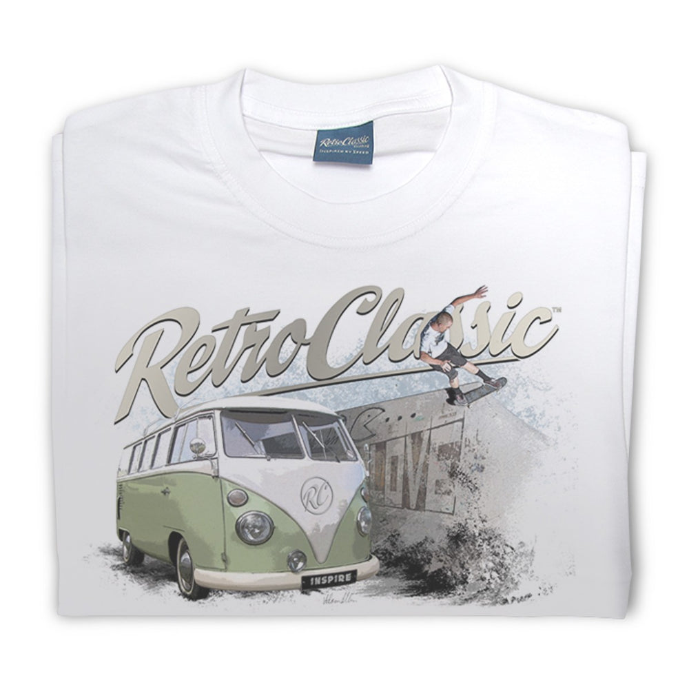Gingerbread World European Living - RetroClassic Clothing Vintage VW T-Shirt - Mens Skateboard and Camper Van T Shirt