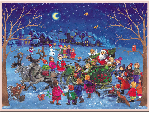 Richard Sellmer Verlag Chocolate-filled Advent Calendar, Santa's Sleigh