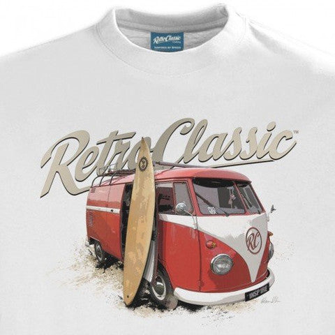 Gingerbread World European Living - RetroClassic Clothing Vintage VW T-Shirt - Women's Surfer Bus