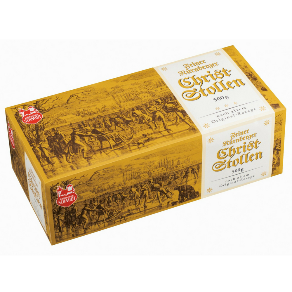 Gingerbread World Lebkuchen Schmidt Stollen, 500 grams