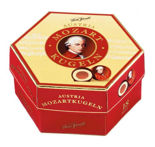 Gingerbread World Lebkuchen Schmidt Canada - Victor Schmidt German Confectioner Mozart Kugeln Gift Box
